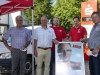 SPD Infostand in Beckinghausen mit Bürgermeisterkandidat Rolf Möller (2.v.rechts)