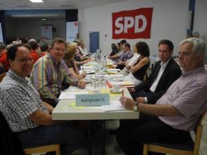 Delegierte SPD-OV Beckinghausen 6.7.13 vl. Thomas Karnath, Udo Kath, Robert Schmidt, Hans Kunze
