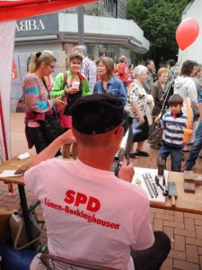 Auch der SPD Ortsverein Lünen-Beckinghausen beteiligte sich an der Infomeile