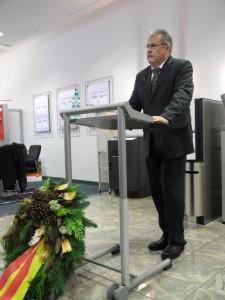 Michael Haustein, stellv. Bürgermeister, hielt eine inhaltlich starke Rede zum Volkstrauertag