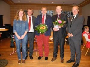 Jubilare Sven Weber und Detlef Seiler