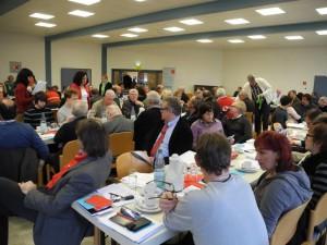 Blick auf die Delegierten des SPD-Parteitages in Lünen
