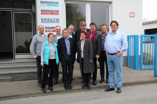 Von links: Uwe Pamp, Brunhilde Weinhold, Rolf Möller, Hugo Becker, Michael Haustein, Dirk Hartmann, Renate Schmeltzer-Urban, Michael Thews, Udo Kath und Erik Pamp