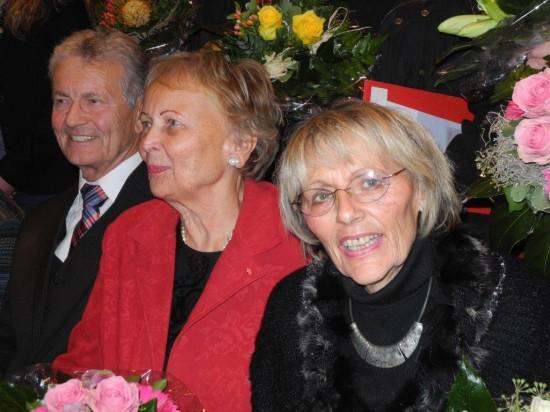 Karl-Heinz und Ute Fridriszik mit Annelise Länger-Bergmann