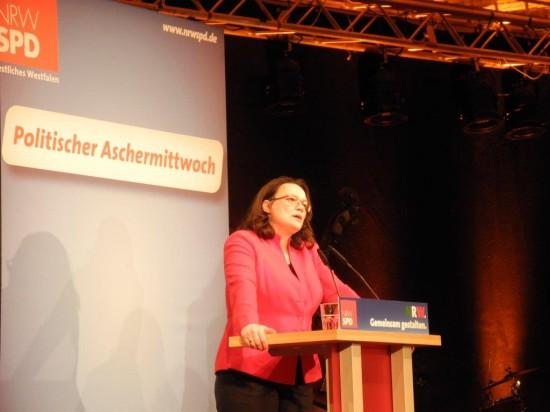 Andrea Nahles: Leidenschaftliche Rednerin