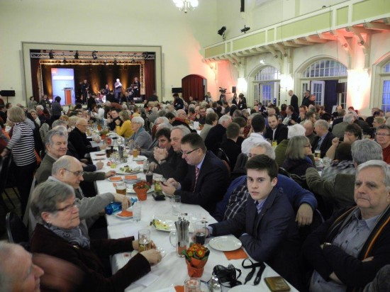 Viele Lüner waren beim politischen Aschermittwoch vertreten. U.a. auch MdL Rainer Schmeltzer, die OV-Vors. Manfred Kolodziejski, Udo Kath, Ratsherr Hubert Groth, Juso Jona Groth