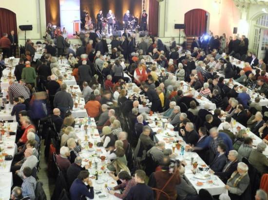 Voller Saal in Schwerter Freischütz auch 2015 beim politischen Aschwermittwoch der SPD