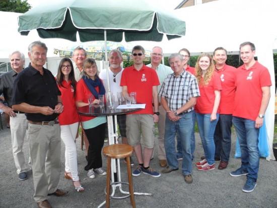 Beim Sommerfest der Siedlergemeinschaft In den Telgen klangen die Wahlkampfaktivitäten in gemütlicher Runde aus