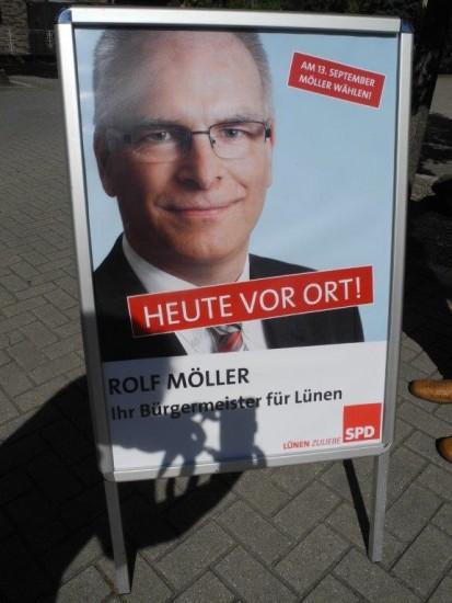 Immer vor Ort - Rolf Möller - Bürgermeisterkandidat in Lünen