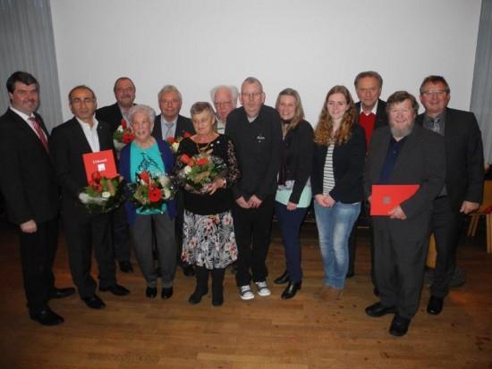 Gruppenfoto der Jubilarehrung von Horstmar und Beckinghausen