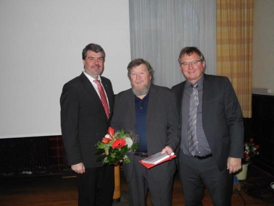 v.l.: Michael Thews, Christian Nowak (35 Jahre Mitgliedschaft), Udo Kath