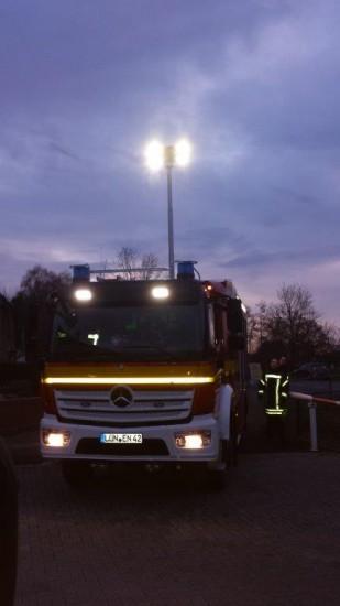 Das neue Fahrzeug auf dem Gelände der freiwilligen Feuerwehr an der Hammer Straße.