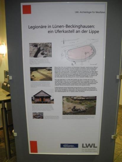 Infotafel römisches Uferkastell Beckinghausen