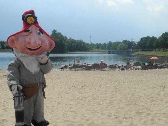 Der Horstmarer See als Kulisse für die Jubiläumsveranstaltung, hier mit Ewald Zappenduster