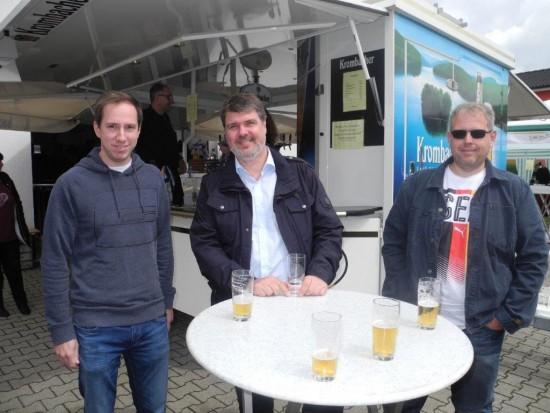 v.l.: Robert Schmidt, Michael Thews u. Sven Weber