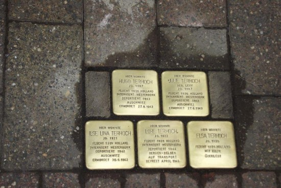Die verlegten Stolpersteine für die Familie Terhoch