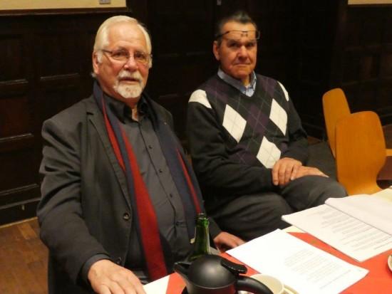 Mit dabei waren auch die langjährigen Horstmarer Genossen Hans Keller und Gerd Püschel.
